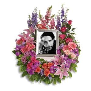 Purple Memorial Wreath