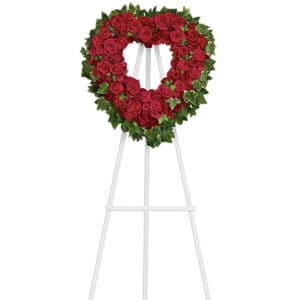 Heart Standing Spray Wreath