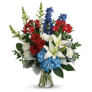 Red White & Blue Sympathy Flowers