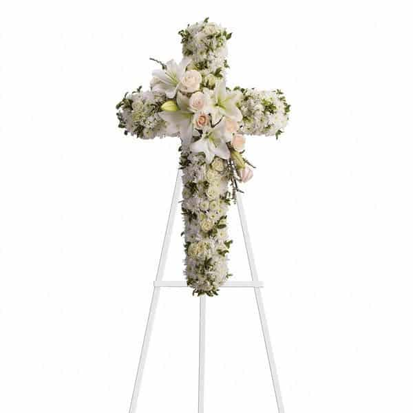 Standing Spray Funeral Cross