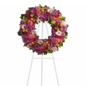 Standing Spray Funeral Wreath