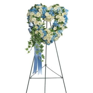 Standing Spray Heart Wreath
