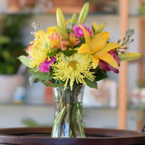 Yellow Lily Flower Arrangement