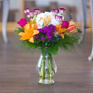 Orange Lily Flower Arrangement