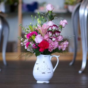 Flower Bouquet in Ceramic Pitcher