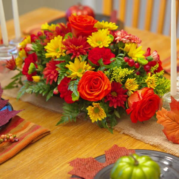 Fall Flower Centerpiece