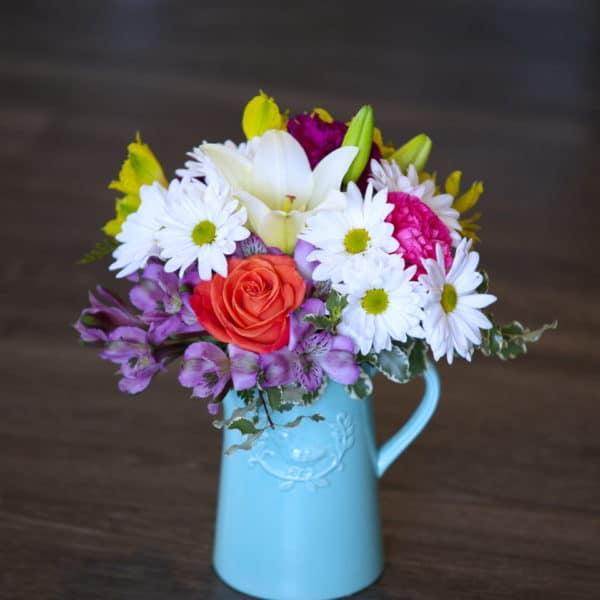 Beautful Bouquet in a Ceramic Pitcher