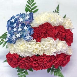 US Flag Made of Flowers