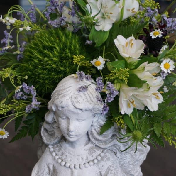 Medium Angel Planter Close Up