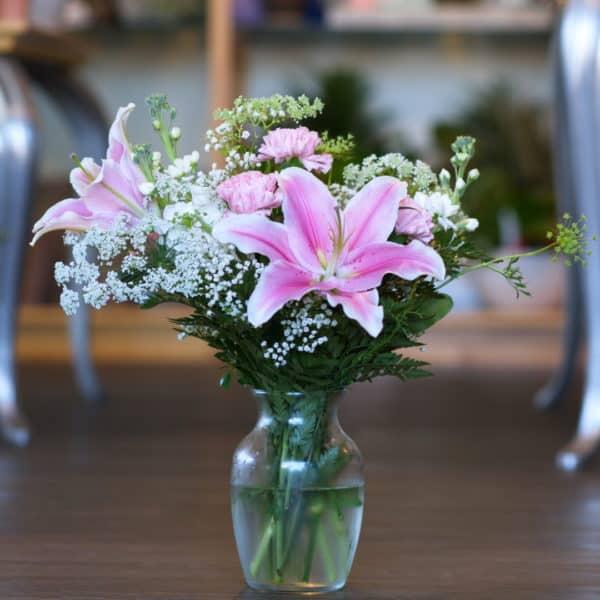 Stargazer Lilies in a Vase