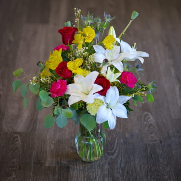 Lilies and Eoses in a Large Bouquet