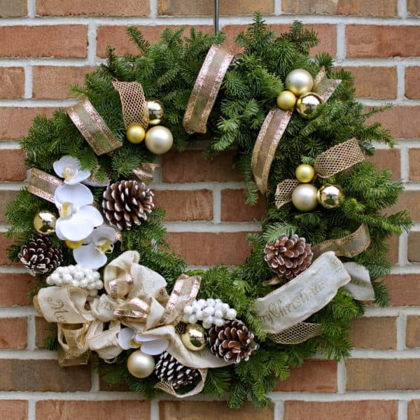Gold Accent Evergreen Wreath