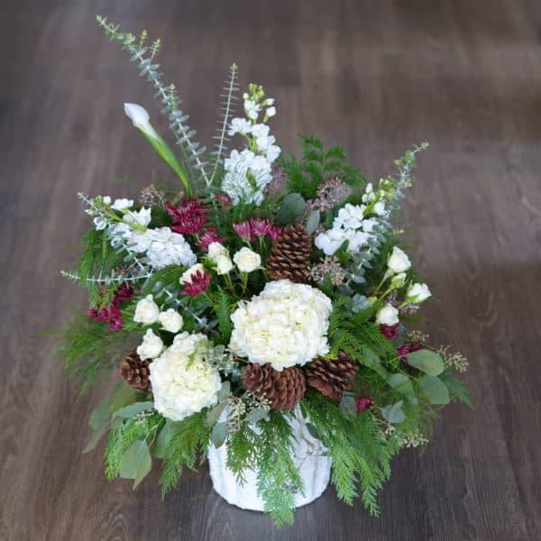 Hydrangeas & Evergreen