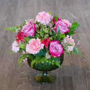 Pink Rose & Carnation Centerpiece