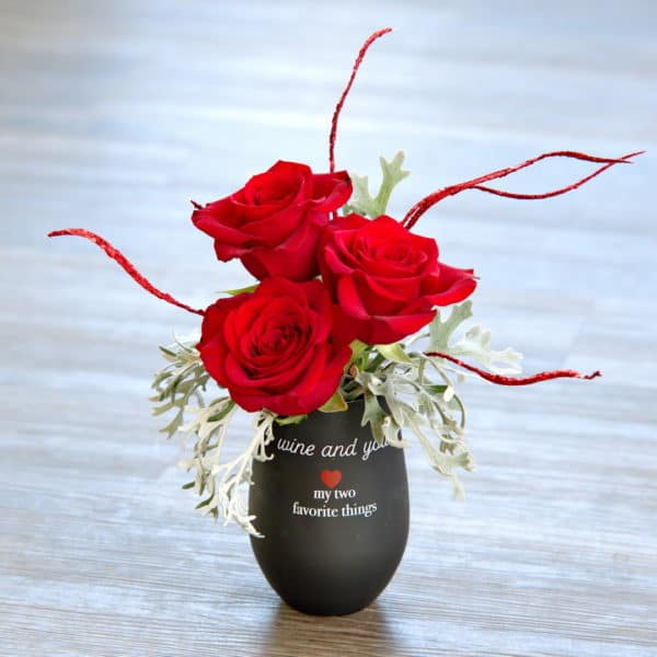 Three Rose Flower Arrangement