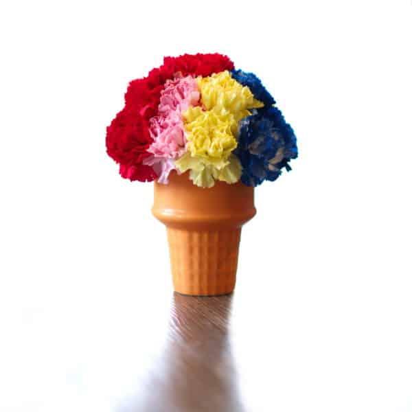 Superman Ice Cream Cone Flowers