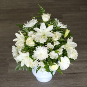 White Lily Symapthy Flowers