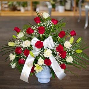 Red Rose Sympathy Flowers