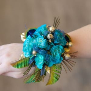 Peacock Corsage
