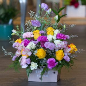 Flower Arrangement in a Tin