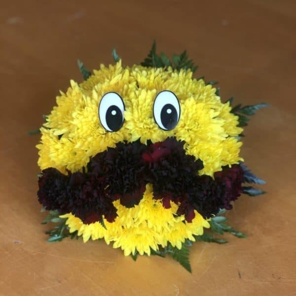 Mustache Emoji Flowers
