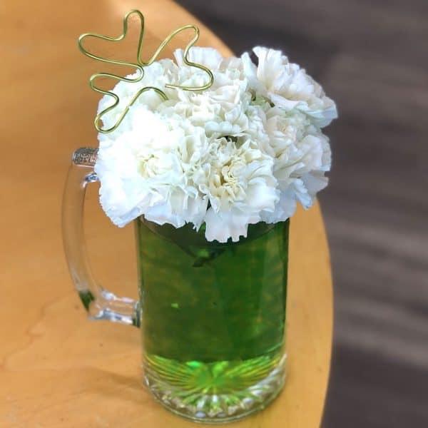 Green Beer Flowers