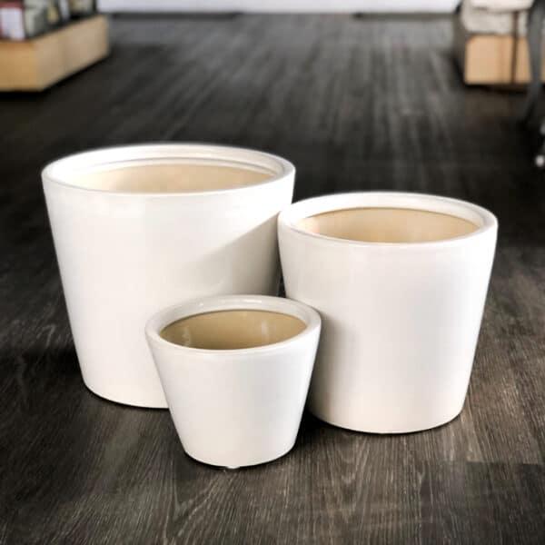 Ceramic White Pot