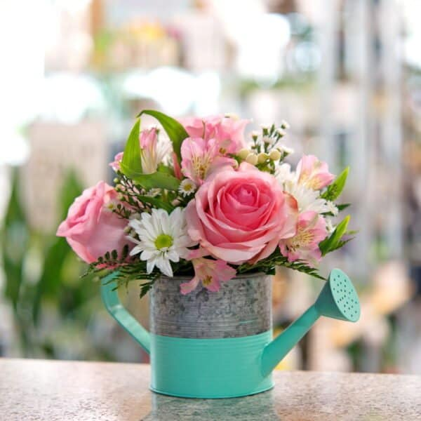 Watering Can Flower Bouquet